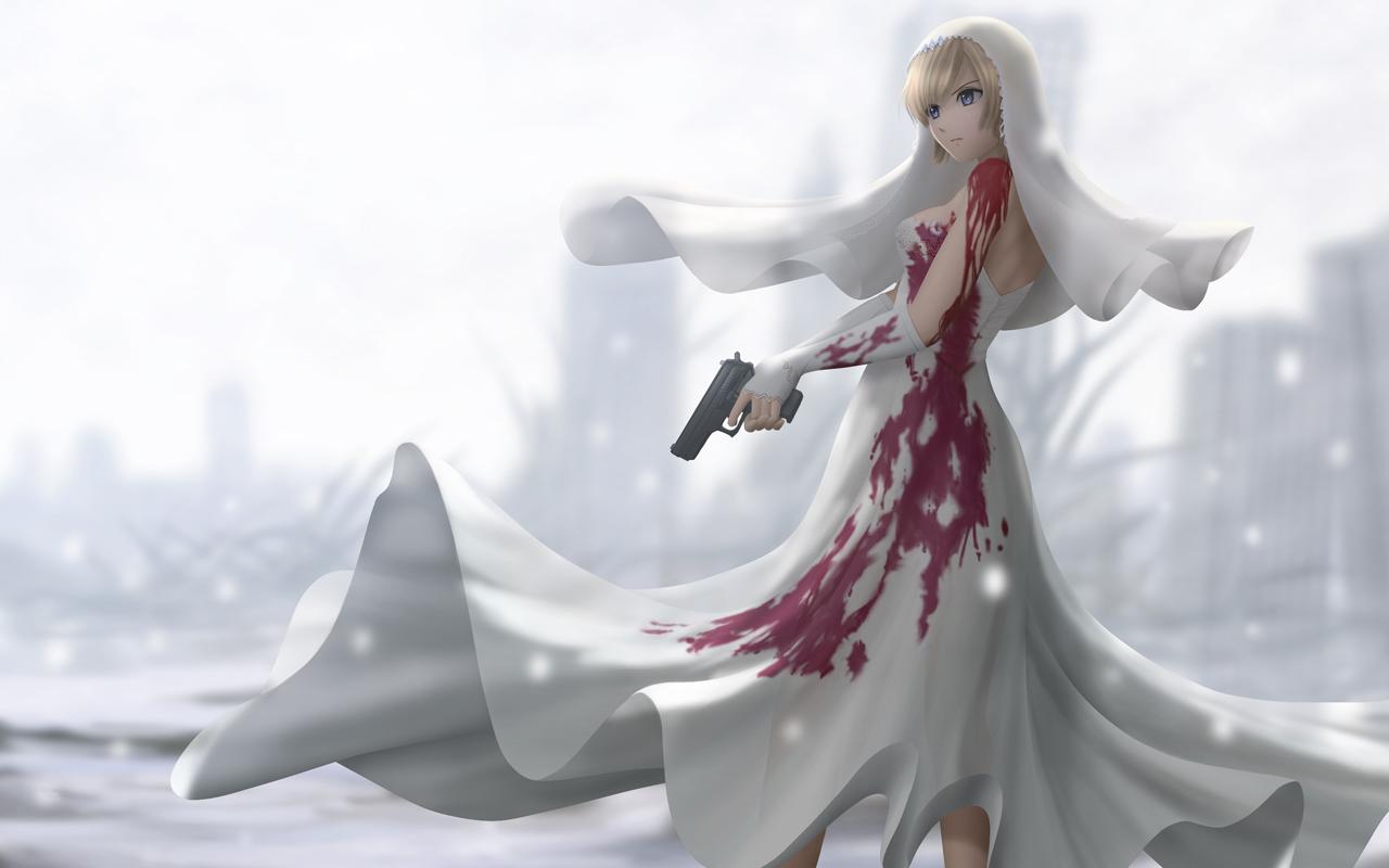 кровавая невеста обои аниме обои на рабочий стол